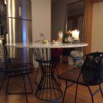 mermer  masa beyaz